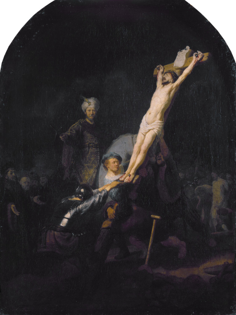 The Raising of the Cross  *oil on canvas  *95.7 x 72.2 cm  *ca. 1633