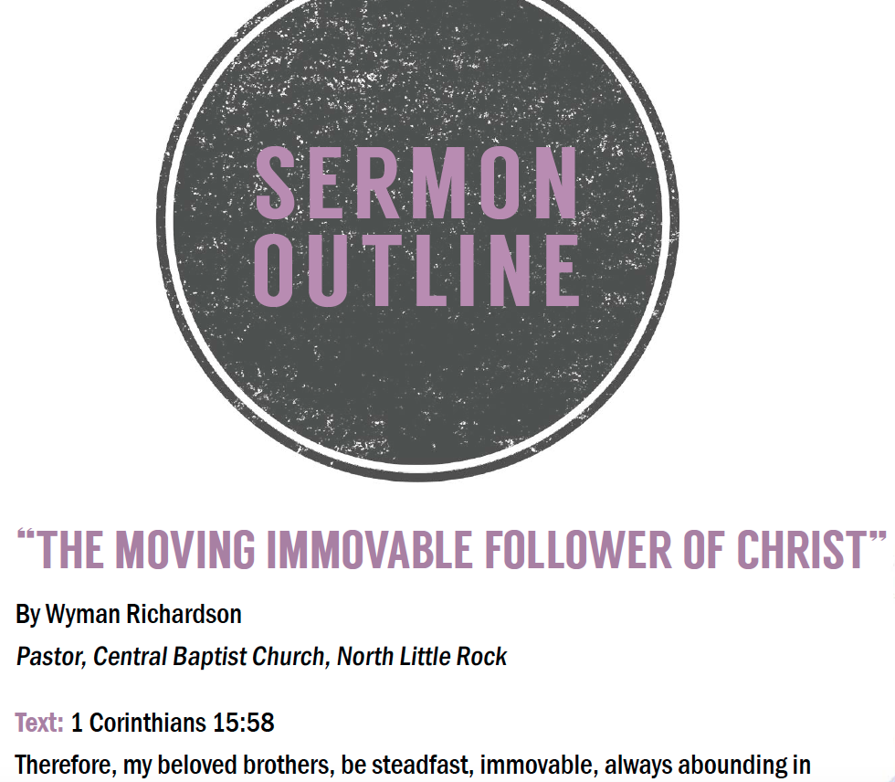 UPDATED** Sermon Outline for the Arkansas Baptist State Convention